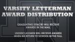 2019-2020 Varsity Letterman Awards Distribution