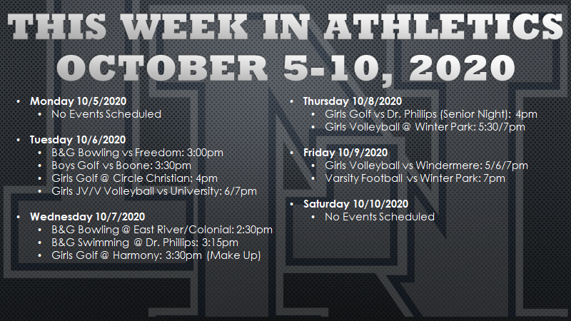 This Week in Lake Nona Athletics: October 5-10, 2020