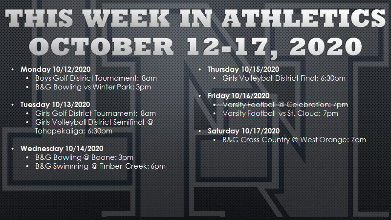 This Week in Lake Nona Athletics: October 12-17, 2020