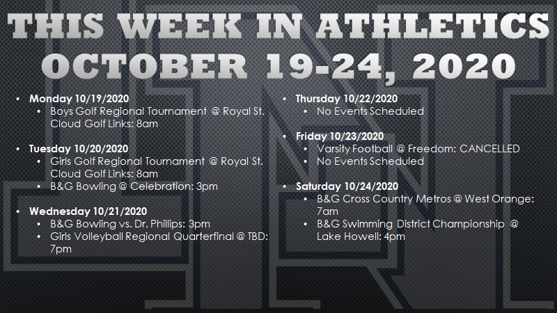 This Week in Lake Nona Athletics: October 19-24, 2020