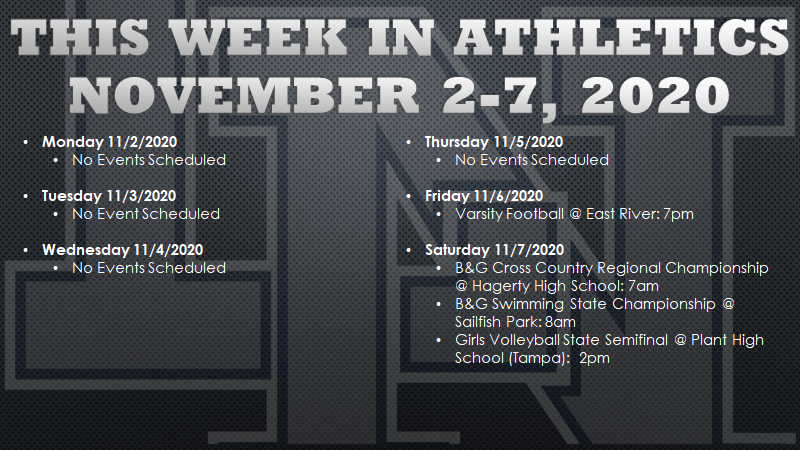 This Week in Lake Nona Athletics: November 2-7, 2020