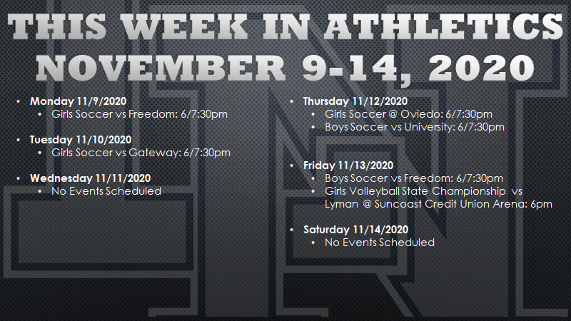 This Week in Lake Nona Athletics: November 9-14, 2020