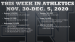 This Week in Athletics: November 30-December 5, 2020