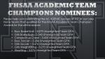 Academic Team Champions Winter 2020-21