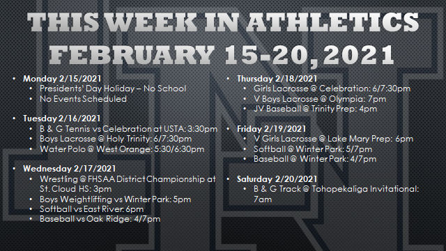 This Week in Lake Nona Athletics: February 15-20, 2021