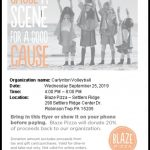 Girls Volleyball Fundraiser BLAZE Pizza 9/25