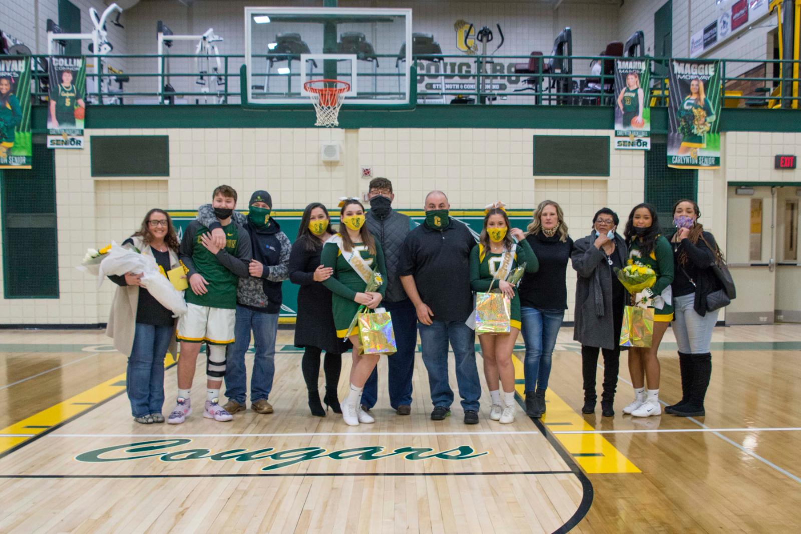Boys Basketball & Cheerleading Senior Recognition