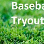 baseball tryouts logo