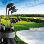 stock photo of golf clubs