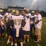 Wilson Central football huddle