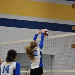 volleyball player spiking