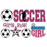 girls soccer logo