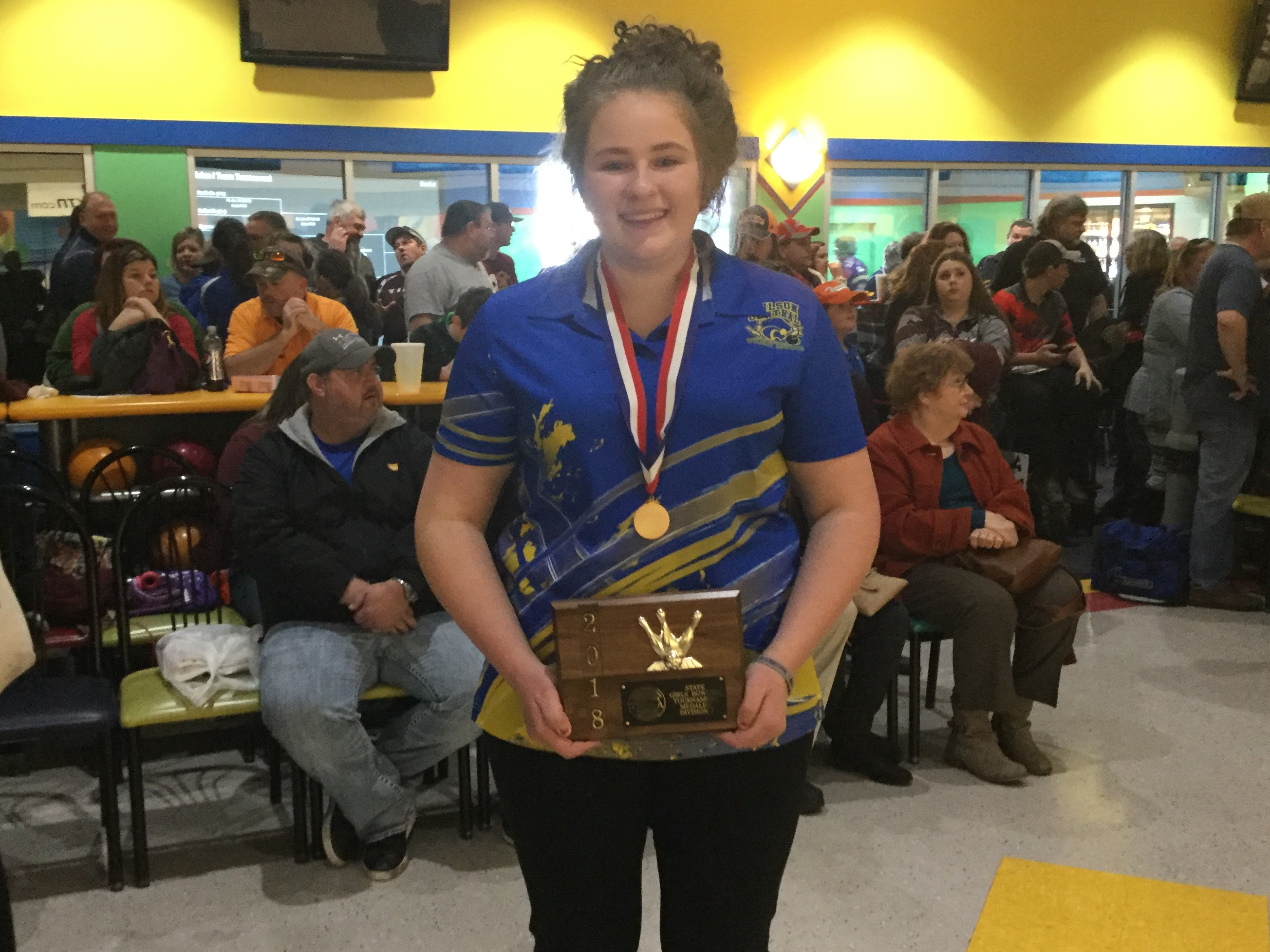 Bowling–Can you say STATE CHAMPION!!!!!  Megan Metz sure can…….