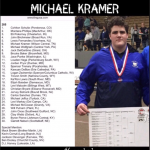 Wrestling–Wildcat Wrestler Micheal Kramer ranked #6 in the country  by USA wrestling.