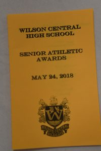SENIOR ATHLETIC AWARDS BANQUET 2018— PICTURES BY KAITLYN HUNGERFORD