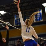 Fall–Volleyball–Lady Cats Shut Out by Lady Bison 3-0