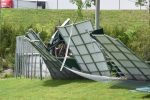 Spring–30 Hours Since Wind Storm hits Athletic Complex,  Games are rescheduled Clean-up Continues