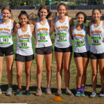 Girls Varsity Cross Country finished  5th out  14 Teams at SCVAL #3  Baylands Park