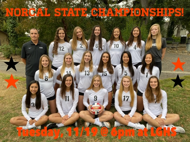 Girls Volleyball to play for a NorCal championship Tuesday 11/19 6pm @ LGHS
