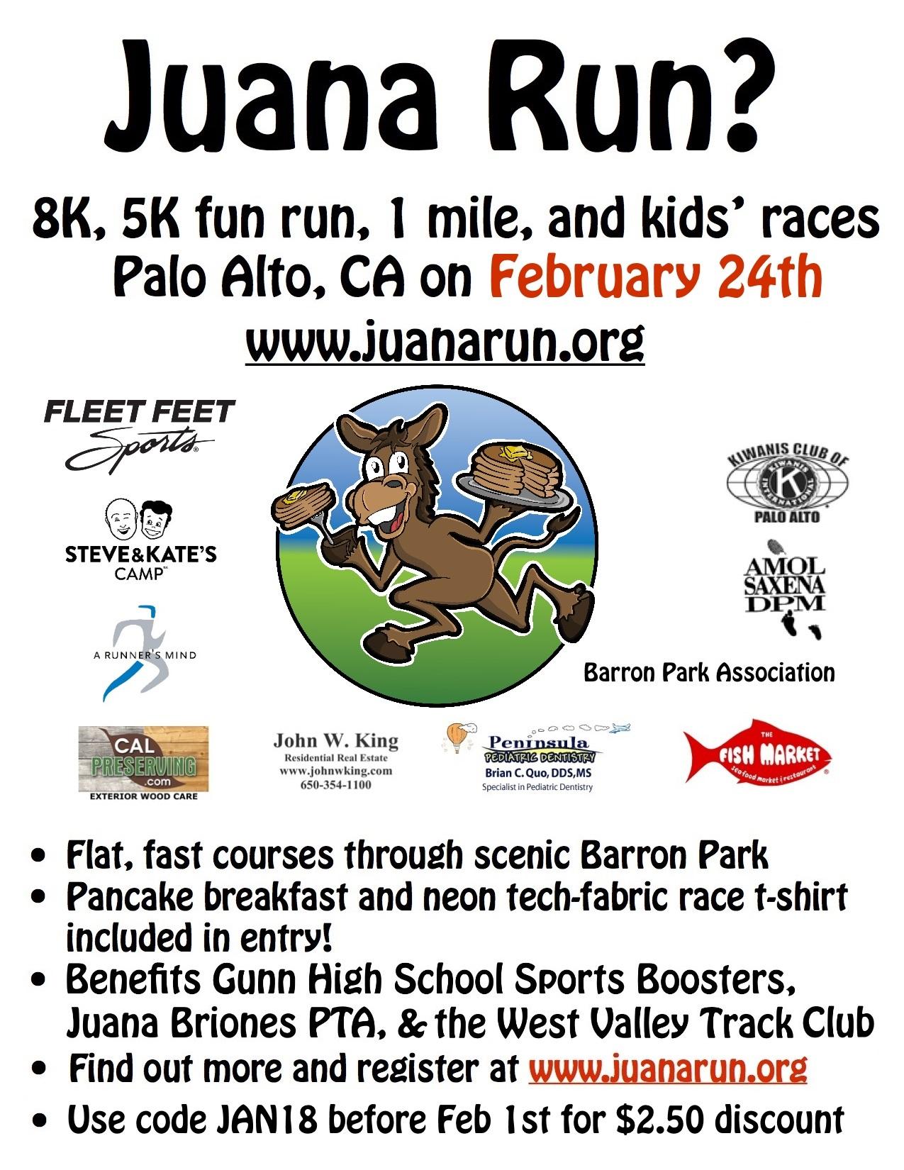 Juana Run? Volunteers Needed