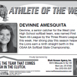 Athlete of the Week – Devinne Amesquita