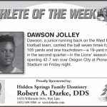 Athlete of the Week – Sept. 7th