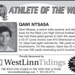 Athlete of the Week 9-21 – Qawi Ntsasa