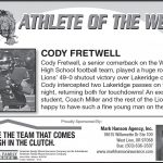 Athlete of the Week 10-30
