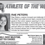 Athlete of the Week – Rae Peters 09-10
