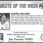 Athlete of the Week – 10-3-18