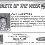 Athlete of the Week – Calli Masters