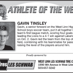 Athlete of the Week – Gavin Tinsley
