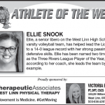 Athlete of the week – Ellie Snook