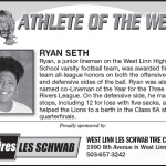 Athlete of the Week – Ryan Seth