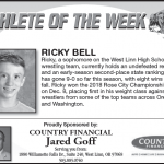 Ricky Bell – Athlete of the Week