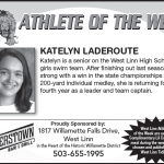 Katie Laderoute – Athlete of the Week