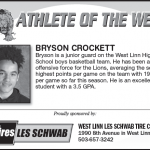 Bryson Crockett – Athlete of the Week