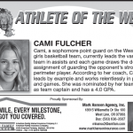 Cami Fulcher – Athlete of the Week