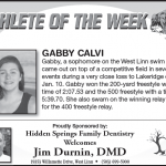 Athlete of the Week – Gabby Calvi