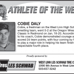 Athlete of the Week – Cobie Daly