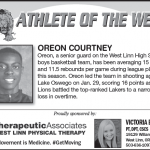 Athlete of the Week – Oreon Courtney
