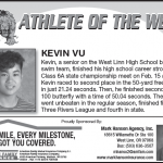 Athlete of the Week – Kevin Vu