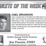 Athlete of the Week – Cael Brunson