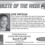 Athlete of the Week – Eve Patoux