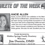 Athlete of the Week – Kacie Allen