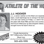 Athlete of the Week – JJ Hoover