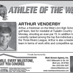Athlete of the Week – Arthur Venderby