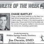 Athlete of the Week – Chase Bartley