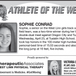 Athlete of the Week – Sophie Conrad
