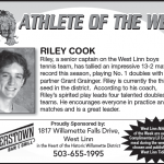 Athlete of the Week – Riley Cook